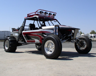 X-18 shown has optional light rack, lights, custom paint and optional paddle tires